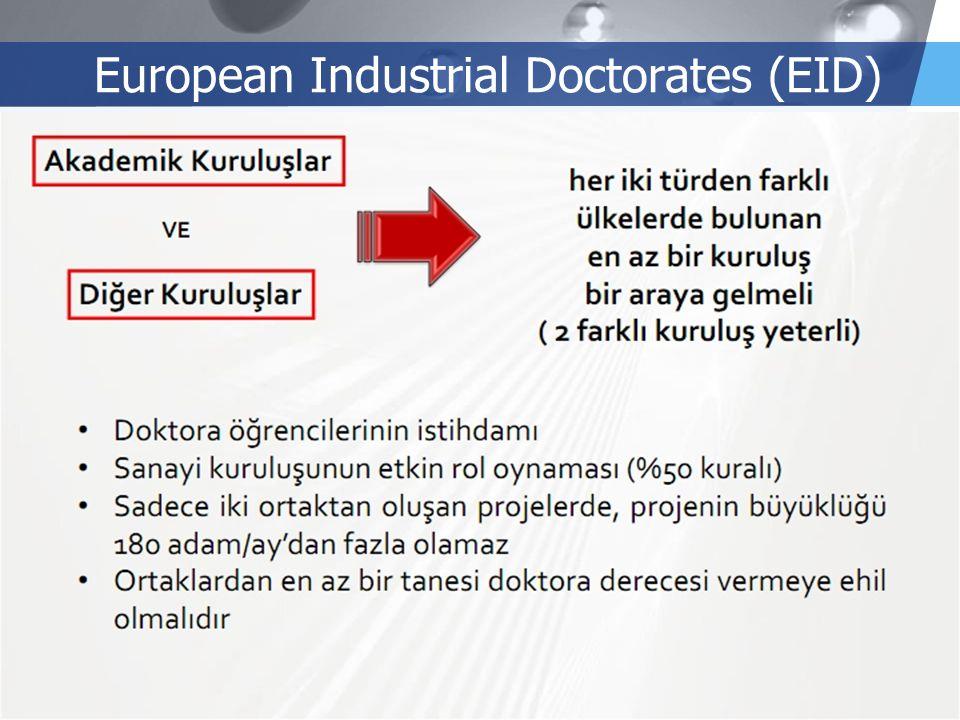 LOGO European Industrial Doctorates (EID)