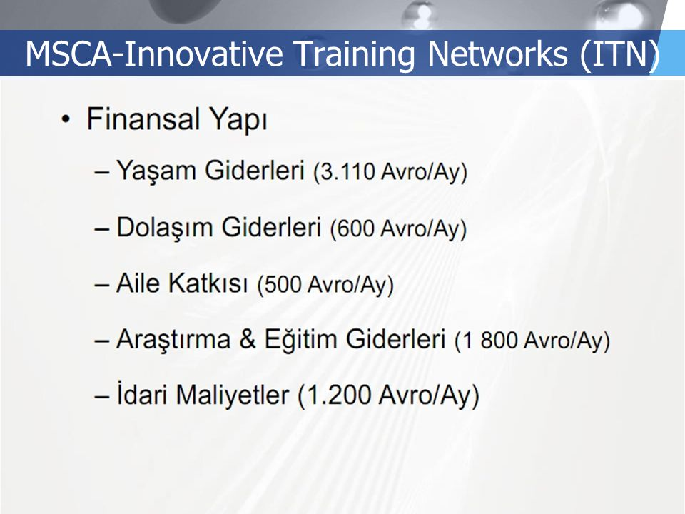 LOGO MSCA-Innovative Training Networks (ITN)