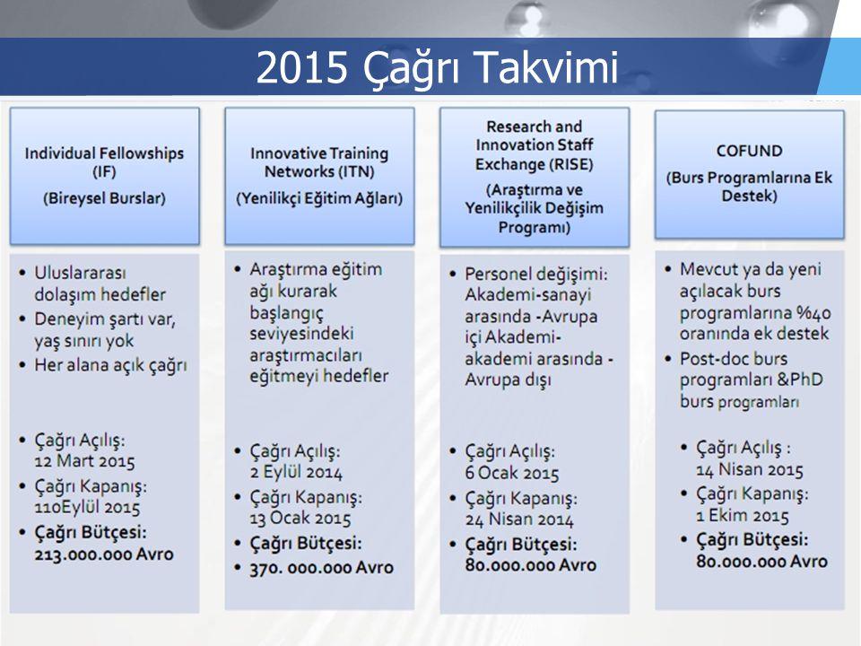 LOGO 2015 Çağrı Takvimi