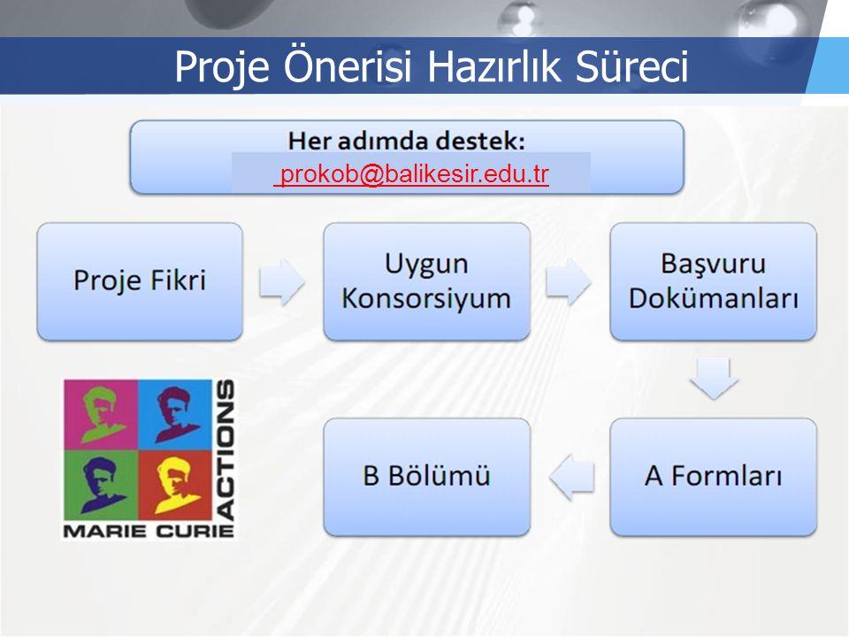 LOGO Proje Önerisi Hazırlık Süreci prokob@balikesir.edu.tr