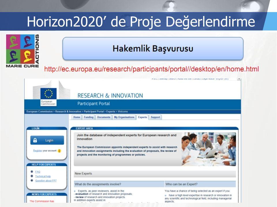 LOGO Horizon2020' de Proje Değerlendirme