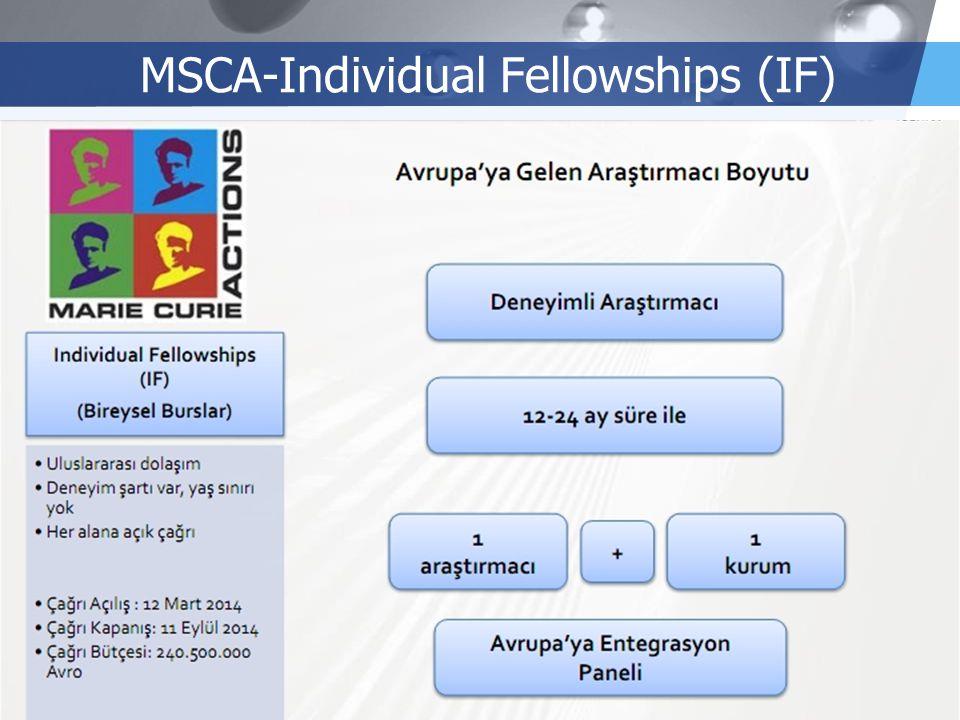 LOGO MSCA-Individual Fellowships (IF)