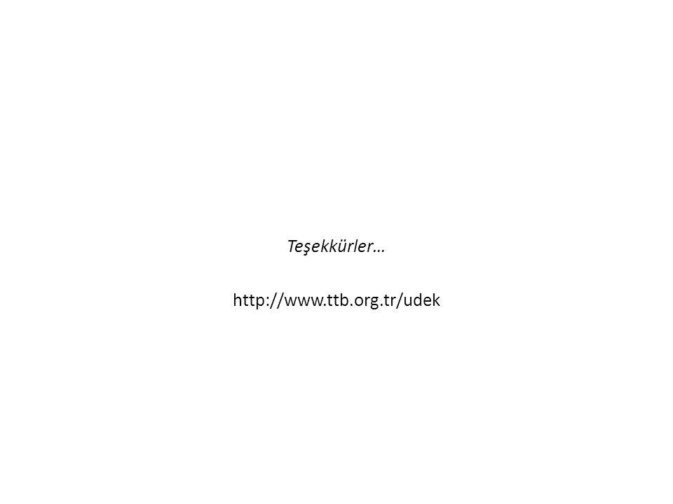 Teşekkürler… http://www.ttb.org.tr/udek