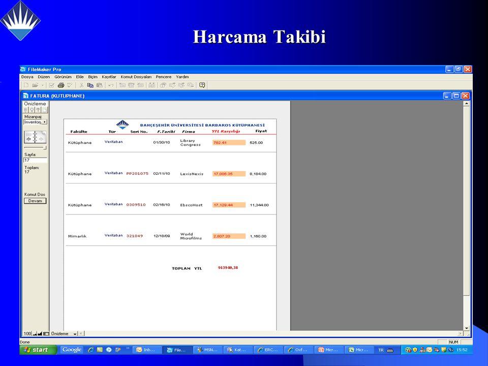 Harcama Takibi