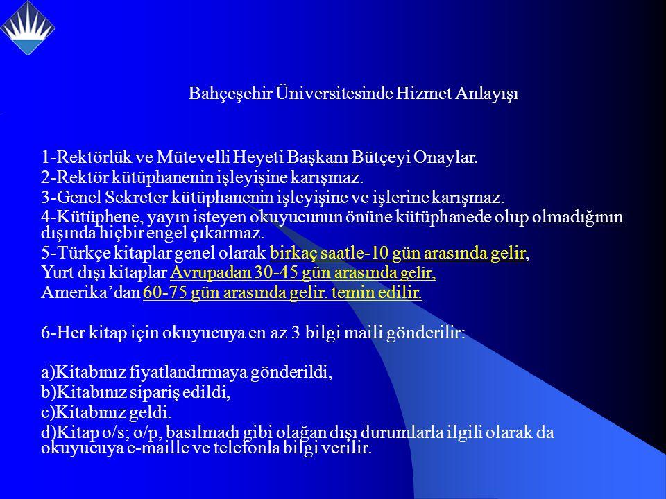 1-Rektörlük ve Mütevelli Heyeti Başkanı Bütçeyi Onaylar.
