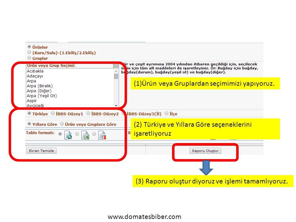 www.domatesbiber.com (1)Ürün veya Gruplardan seçimimizi yapıyoruz.