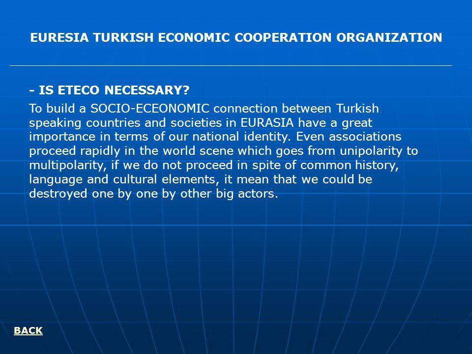 EURESIA TURKISH ECONOMIC COOPERATION ORGANIZATION - IS ETECO NECESSARY.