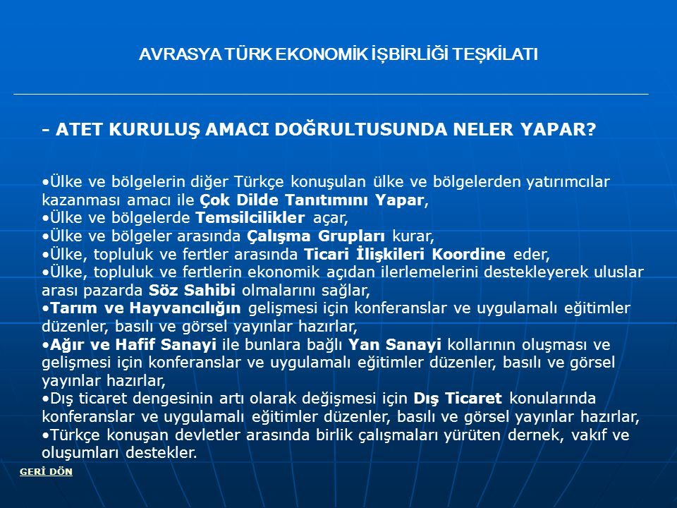 EURESIA TURKISH ECONOMIC COOPERATION ORGANIZATION - WHICH BUSSINESS BRANCHES DOES ETECO CONSIST OF.