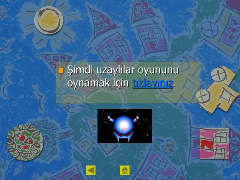 n Şimdi uzaylılar oyununu oynamak için tıklayınız. tıklayınız