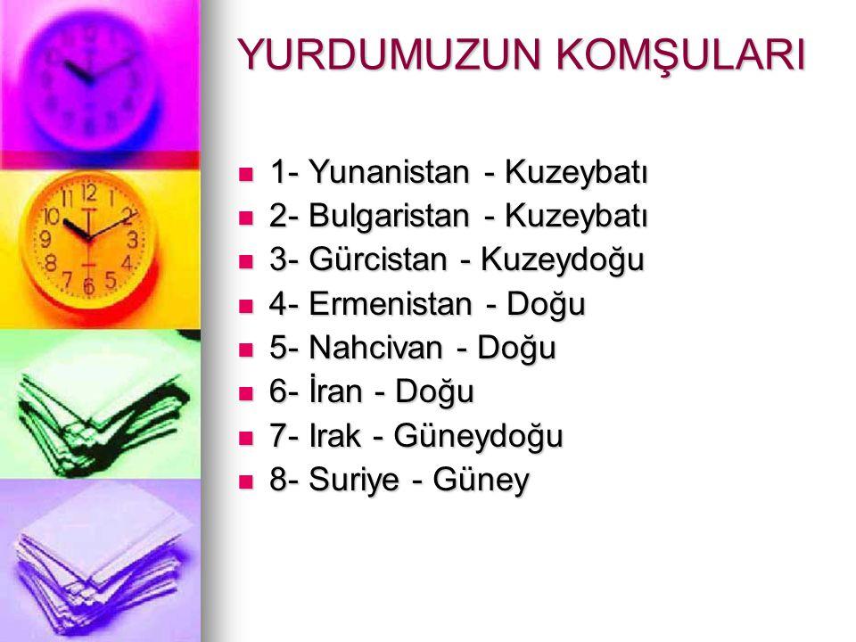 TÜRKİYE'NİN ÖZEL KONUMU 1- Türkiye; Asya, Avrupa ve Afrika Kıta larının birbirine en fazla yaklaştığı yerde bulunur.