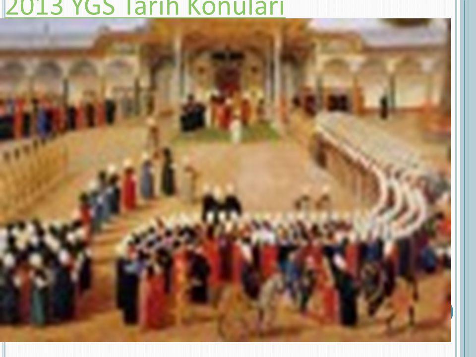 2013 YGS Tarih Konuları