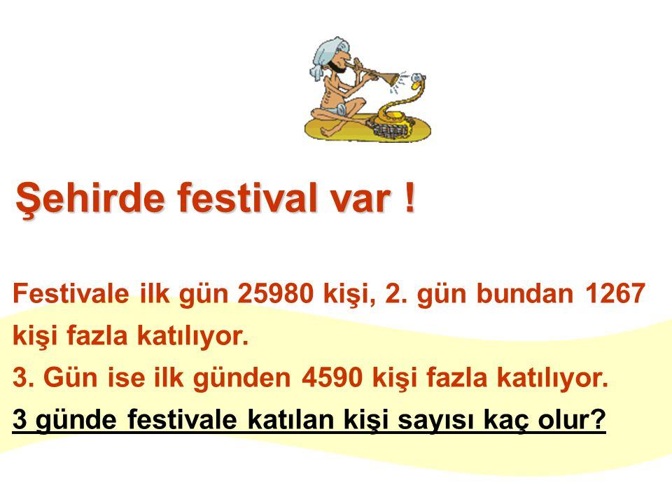 Şehirde festival var . Festivale ilk gün 25980 kişi, 2.