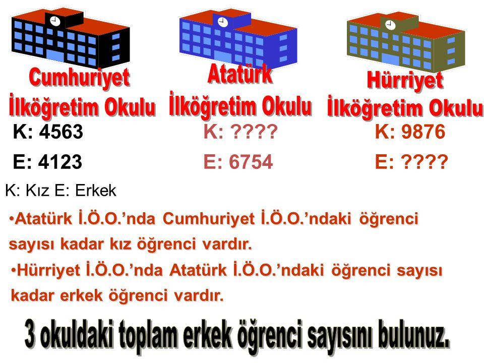 K: 4563 E: 4123 K: . E: 6754 K: 9876 E: .
