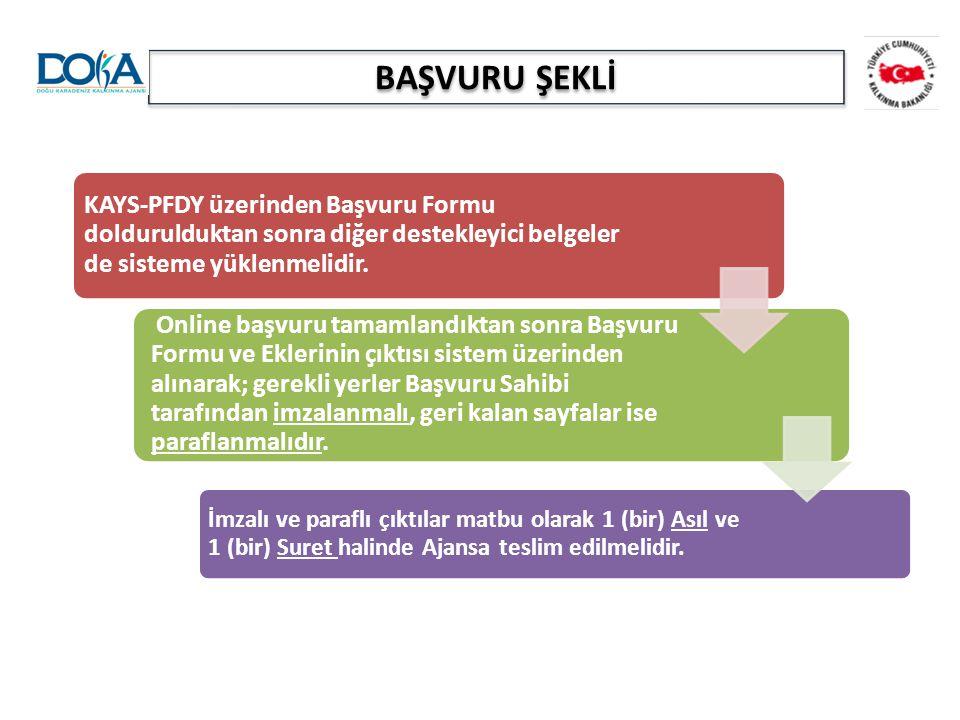 BAŞVURU ŞEKLİ KAYS-PFDY üzerinden Başvuru Formu doldurulduktan sonra diğer destekleyici belgeler de sisteme yüklenmelidir. Online başvuru tamamlandıkt