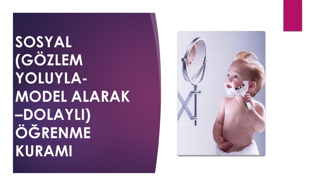 5.MODEL ALMANIN FONKSİYONLARI TEPKİ KOLAYLAŞTIRMA BİLİŞSEL MODELLEME ÇEKİNME/ ÇEKİNMEME GÖZLEMLE ÖĞRENME