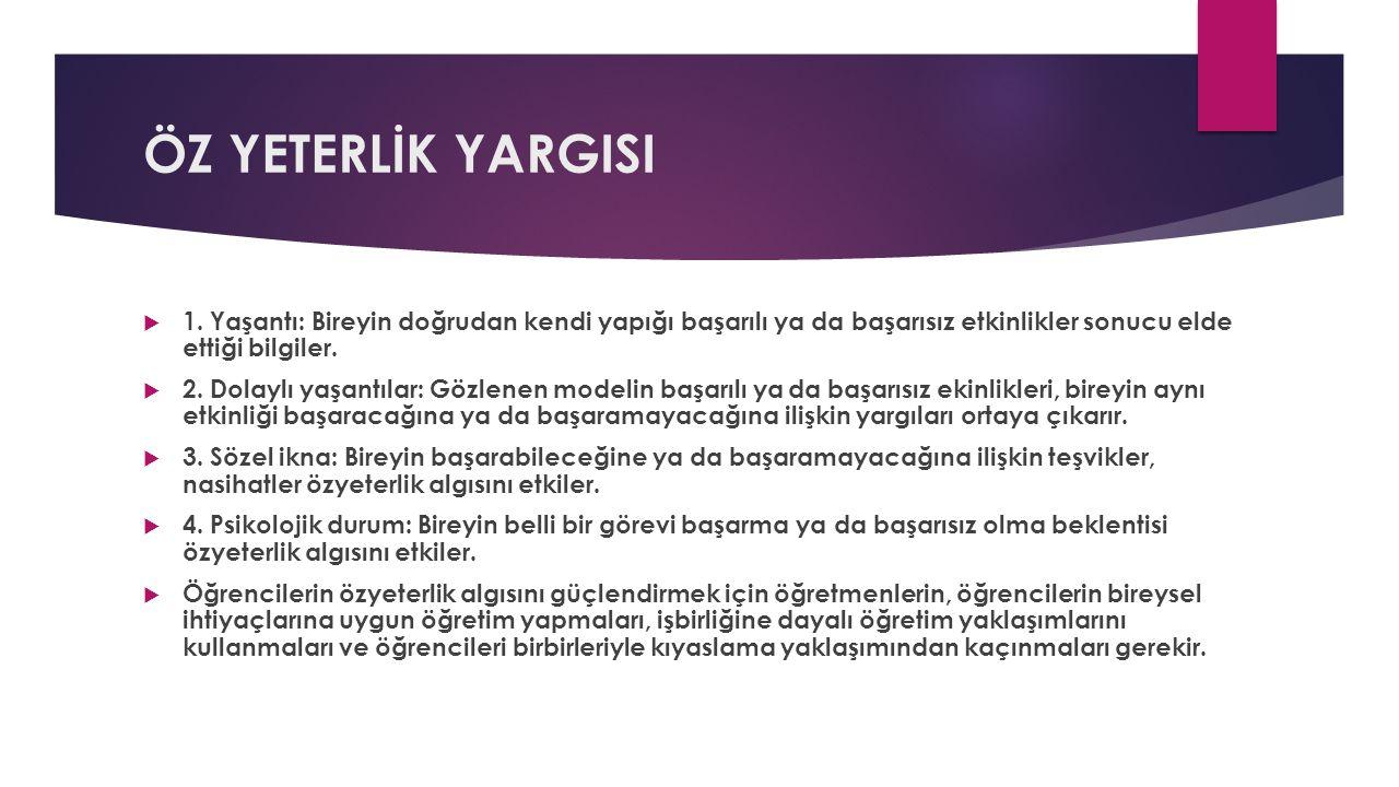ÖZ YETERLİK YARGISI  1.