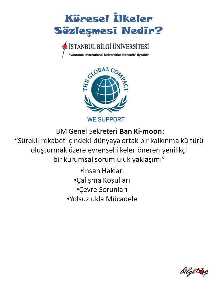 """Küresel İlkeler Sözleşmesi Nedir? BM Genel Sekreteri Ban Ki-moon: """"Sürekli rekabet içindeki dünyaya ortak bir kalkınma kültürü oluşturmak üzere evrens"""