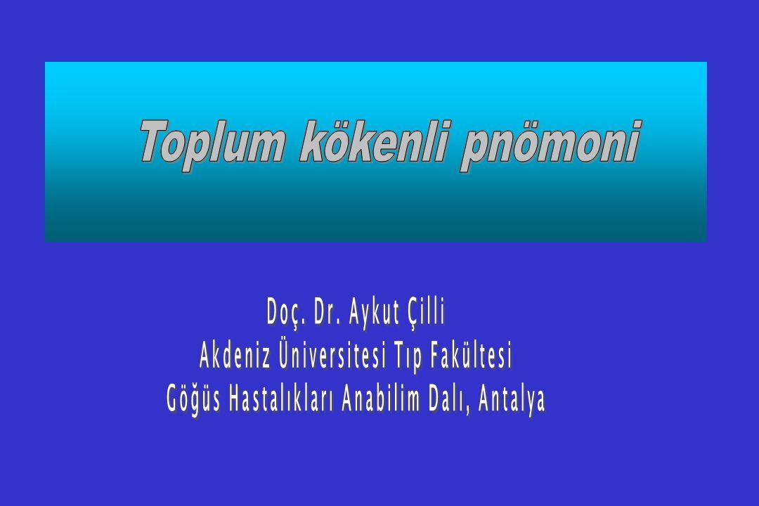 Türkiye'de pnömokal pnömonilerdeki tedavi seçenekleri nelerdir.