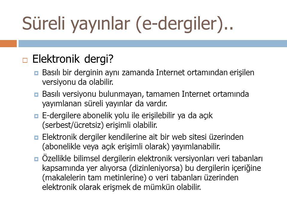  Elektronik dergi.