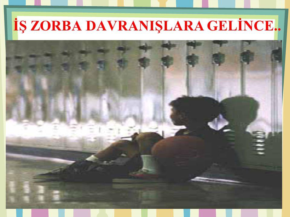 İŞ ZORBA DAVRANIŞLARA GELİNCE..