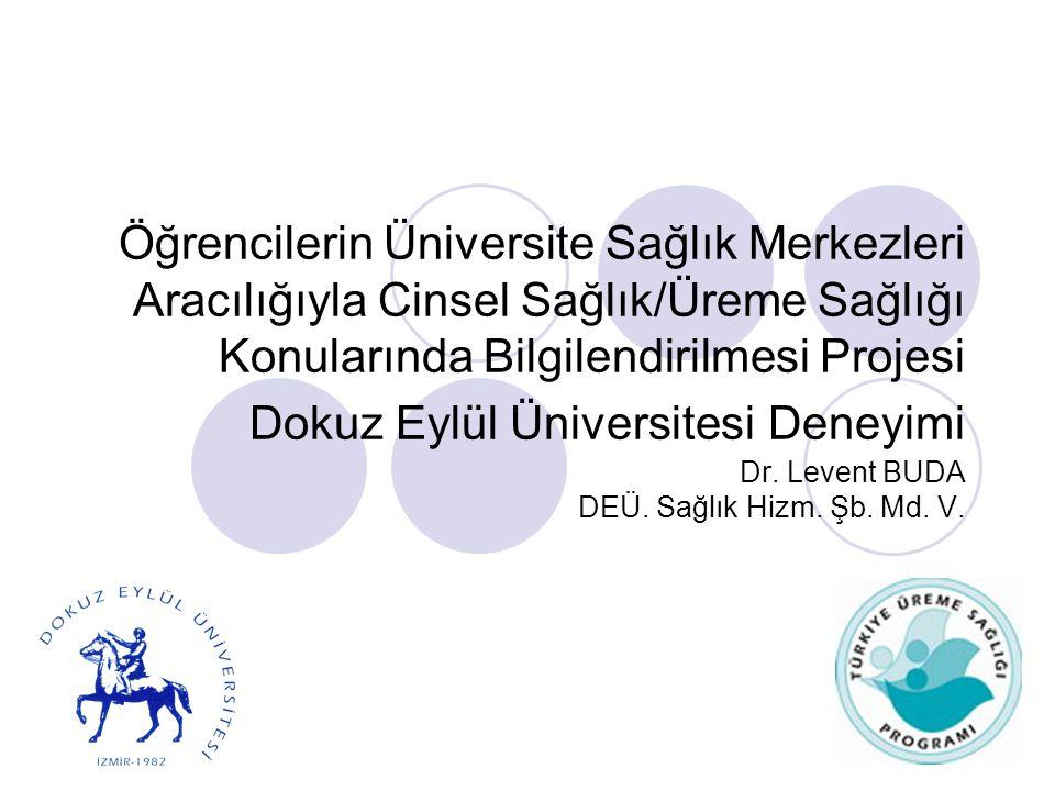 Öğrencilerin Üniversite Sağlık Merkezleri Aracılığıyla Cinsel Sağlık/Üreme Sağlığı Konularında Bilgilendirilmesi Projesi Dokuz Eylül Üniversitesi Dene