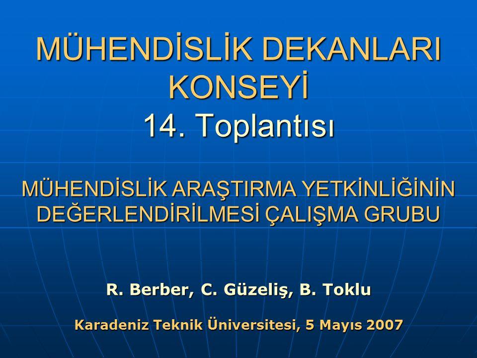 MÜHENDİSLİK DEKANLARI KONSEYİ 14.