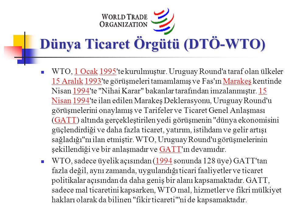 Dünya Ticaret Örgütü (DTÖ-WTO) WTO, 1 Ocak 1995'te kurulmuştur. Uruguay Round'a taraf olan ülkeler 15 Aralık 1993'te görüşmeleri tamamlamış ve Fas'ın