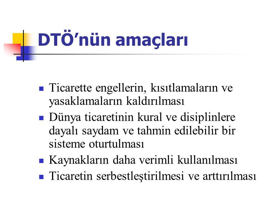 DTÖ'nün temel faaliyetleri Örgütün kapsamına giren (GATT'dan devralınan) anlaşmaların uygulanması, yönetimi ve işleyişinin sağlanması.