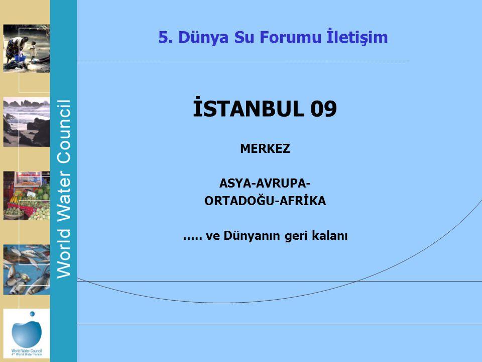 5. Dünya Su Forumu İletişim İSTANBUL 09 MERKEZ ASYA-AVRUPA- ORTADOĞU-AFRİKA ….. ve Dünyanın geri kalanı
