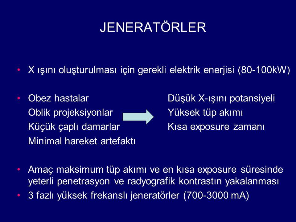 VENOGRAFİK ÇALIŞMALAROPAK MADDE – DAĞITIM HIZI İnferior vena kava (iliak ven-VKİ)50 ml - 20 ml/sn Ana femoral ven25 ml - 8ml/sn Renal ven25 ml - 10 ml/sn Süperior vena kava (antekübital ven)30 ml - 6 ml/sn Alt ekstremite (ayak)80 - 200 ml Wedge hepatik venogram12 ml - 3 ml/sn