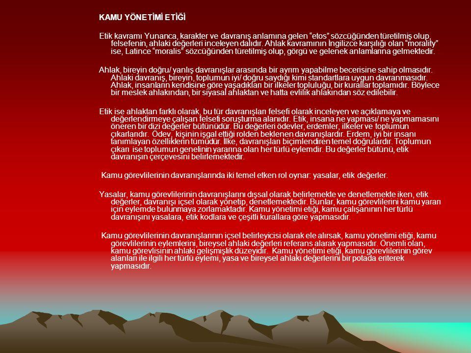 *Yolsuzluğa Karşı Etik Proje Denge Gazetesi/04.06.2009Yolsuzluğa Karşı Etik Proje *ETİK LİDERLİK SEMİNERİ YAPILDI Samsun Bülten/ 02.06.2009ETİK LİDERLİK SEMİNERİ YAPILDI *Samsun da Yolsuzluğun Önlenmesi İçin Etik Projesi Kapsamında Etik Liderlik Semineri düzenlendi Samanyoluhaber / 01.06.2009Samsun da Yolsuzluğun Önlenmesi İçin Etik Projesi Kapsamında Etik Liderlik Semineri düzenlendi *Vatandaşların çoğu, tapu sicil müdürlüklerinde hediye ve bahşişin yaygın olduğunu düşünüyor, Netgazete / 28.05.2009 *AB ve Türkiye, Türkiye de yolsuzluk konulu araştırmayı kamuoyuyla paylaşıyor, Euractiv / 27.05.2009 *Başbakan Recep Tayyip ERDOĞAN, Kamu Görevlileri Etik Kurulu üyelerini kabul etti, Türk Medya / 26.05.2009 *Kamu Görevlileri Etik Kurulu ndan araştırma, Turknet / 26.05.2009Kamu Görevlileri Etik Kurulu ndan araştırma * Etik Haftası nda rüşvet masaya yatırıldı, Radikal/ 26.05.2009 Etik Haftası nda rüşvet masaya yatırıldı *8 Bürokrat Bayi Parasıyla Rixos ta kaldı, Etik Kurulu Resmi Gazete de teşhir etti, Hürriyet/ 08.03.20098 Bürokrat Bayi Parasıyla Rixos ta kaldı, Etik Kurulu Resmi Gazete de teşhir etti *Kamu Etik Kurulu, Durak ın eşine ait arsada yapılan imar planı değişikliğini `etik` bulmadı /Tümgazeteler/ 27.01.2009Kamu Etik Kurulu, Durak ın eşine ait arsada yapılan imar planı değişikliğini `etik` bulmadı *Etik Liderlik, Maraş Gündem/ 11.03.2009Etik Liderlik *Şaşaalı rektör kalmayacak Akşam Gazetesi Tarih: 02.12.2008Şaşaalı rektör kalmayacak Akşam Gazetesi Tarih: 02.12.2008 *Öğretmenlere Pahalı Hediye Yasağı, Ögretmenlersitesi.com Tarih:11.11.2008 *Dünyayı Etik Kurtaracak, Turklider.org Tarih: 02.11.2008 *10 tane Kamu Etik Kurulu olsa ne fayda.., Gözlem Tarih: 29.08.2008 *Başbakanlık Yolsuzluğu Akademik Olarak Araştıracak, Sabah Tarih:01.08.2008Başbakanlık Yolsuzluğu Akademik Olarak Araştıracak *Kamuda Etik Anlayışı Masaya Yatırıldı, Hürriyet Tarih: 25.06.2008 *Ankara daki Sempozyumlardan İzlenimler, İkizdere.net Tarih: 10.06.2008 *Malatya Güncel Haber Tarih: 28 Mayıs 