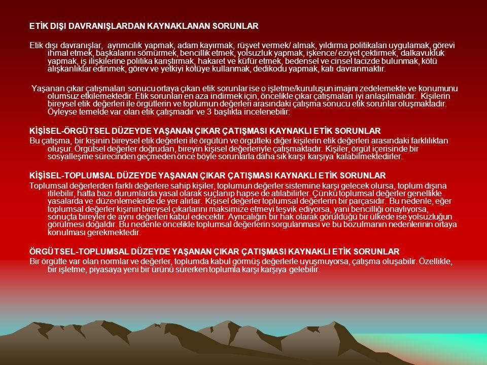 """KAMU GÖREVLİLERİ ETİK REHBERİ-9.2.2010 """"."""