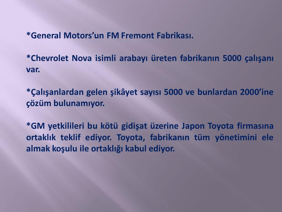 *General Motors'un FM Fremont Fabrikası.