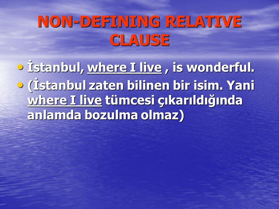 İstanbul, where I live, is wonderful.İstanbul, where I live, is wonderful.