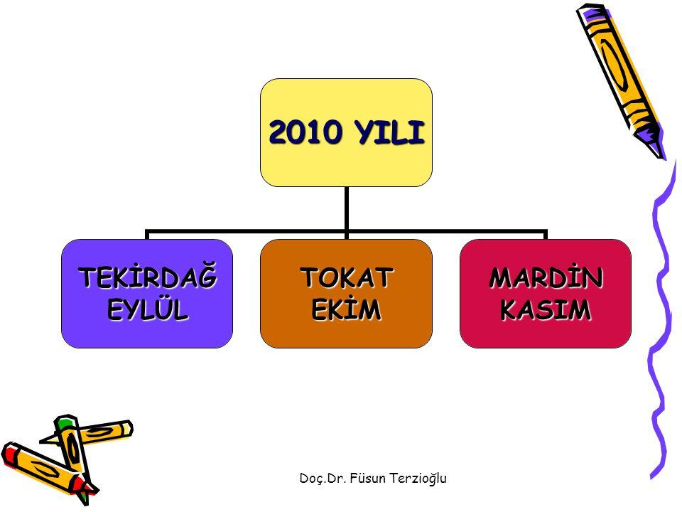 Doç.Dr. Füsun Terzioğlu 2010 YILI TEKİRDAĞEYLÜLTOKATEKİMMARDİNKASIM