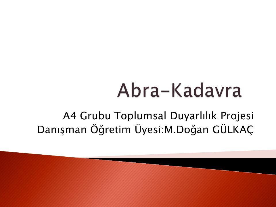 Kadavra bağışı konusunda toplumun bilinç düzeyinin değerlendirilmesi ve bilgilendirme konulu bir proje hazırladık.