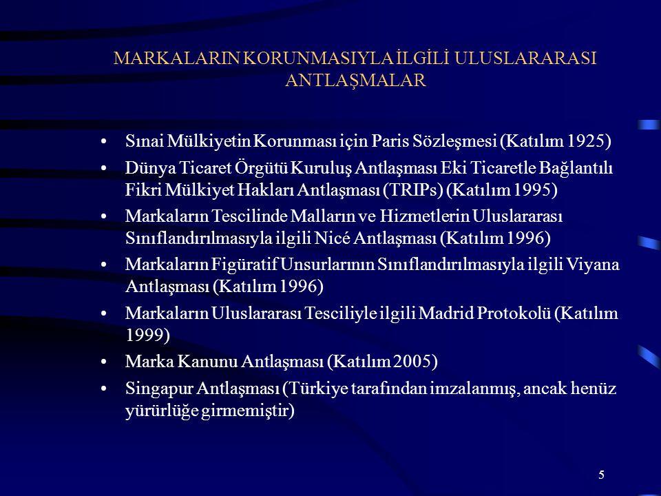 16 AB çerçevesinde hüküm ifade eden bir marka türü Tek başvuru Tüm Topluluk ülkelerinde geçerli marka Türkiye' den başvuru Topluluk Markası
