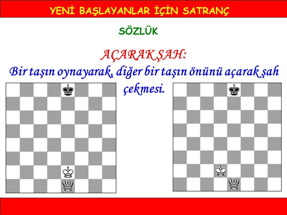 YENİ BAŞLAYANLAR İÇİN SATRANÇ SÖZLÜK KÖRLEME Tahtaya bakmadan, notasyon aracılığıyla oynanan oyun.
