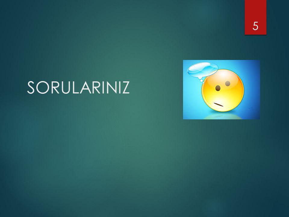 SORULARINIZ 5