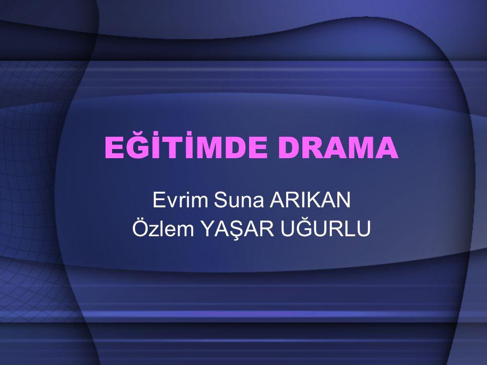 Dramanın tanımı Dramanın amacları Dramanın yararları Drama türleri Drama yöntemleri Eğitimde yaratıcı drama uygulama boyutları Eğitimde drama sürecindeki öğeler