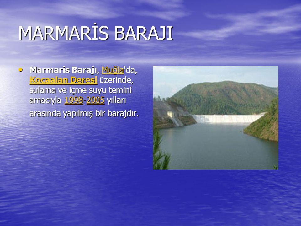 KEMER BARAJI Kemer Barajı (Bozdoğan Barajı da denmektedir.), Aydın ili Bozdoğan ilçesi sınırları içinde, Akçay üzerinde sulama, taşkın kontrolü ve enerji üretimi amacıyla 1954-1958 yılları arasında inşa edilmiş bir barajdır.