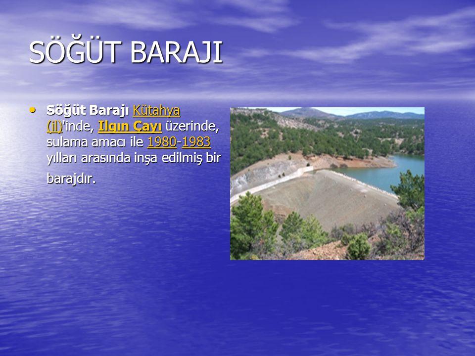 MARMARİS BARAJI Marmaris Barajı, Muğla da, Kocaalan Deresi üzerinde, sulama ve içme suyu temini amacıyla 1998-2005 yılları arasında yapılmış bir barajdır.