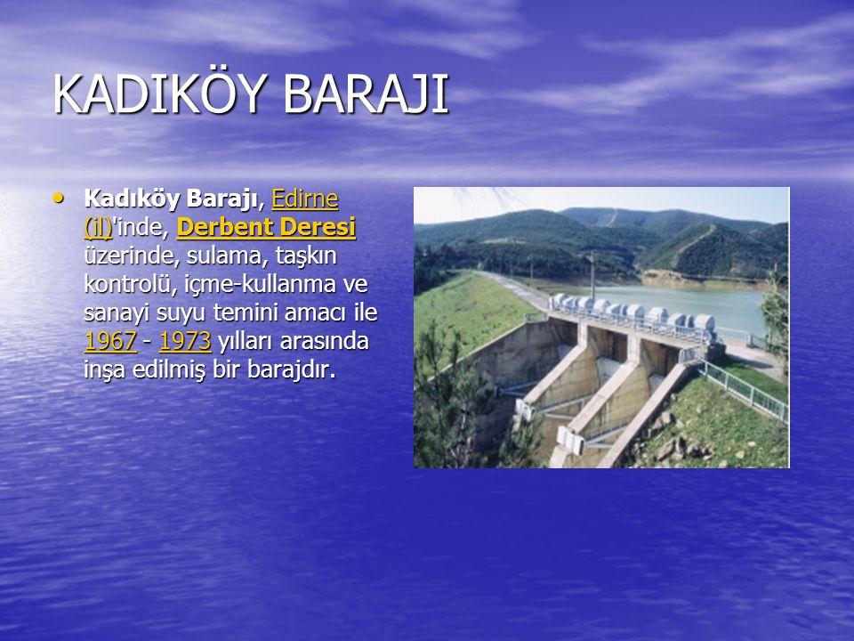 ALİBEYKÖY BARAJI Alibey Barajı (bitişik olduğu İstanbul semtinin ismi ile Alibeyköy Barajı şeklinde de anılır), İstanbul da Alibey Deresi (Alibeyköy Deresi veya Malova Deresi şeklinde de anılır) üzerinde, içme, kullanma ve sanayi suyu temini amacıyla 1975-1983 yılları arasında inşa edilmiş bir barajdır.