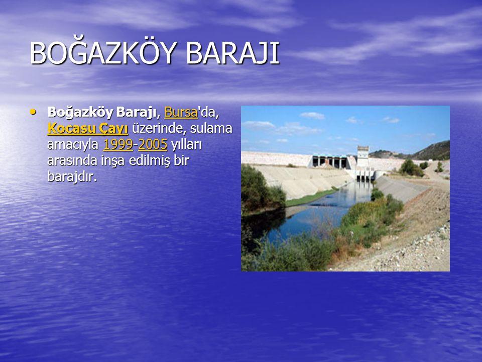KADIKÖY BARAJI Kadıköy Barajı, Edirne (il) inde, Derbent Deresi üzerinde, sulama, taşkın kontrolü, içme-kullanma ve sanayi suyu temini amacı ile 1967 - 1973 yılları arasında inşa edilmiş bir barajdır.