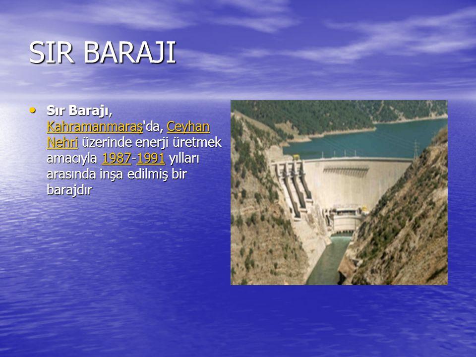 OYMAPINAR BARAJI Oymapınar Barajı, Antalya da, Manavgat Nehri üzerinde, elektrik enerjisi üretimi amacı ile 1977-1984 yılları arasında inşa edilmiş bir barajdır.
