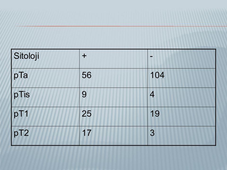Sitoloji+- pTa56104 pTis94 pT12519 pT2173