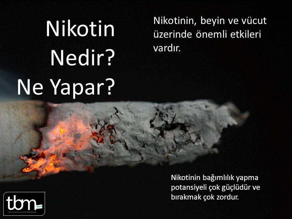 Nikotin Nedir.Ne Yapar. Nikotinin, beyin ve vücut üzerinde önemli etkileri vardır.