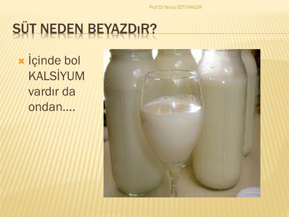  SÜT İÇİN…. Prof.Dr.Yavuz ÖZTÜRKLER