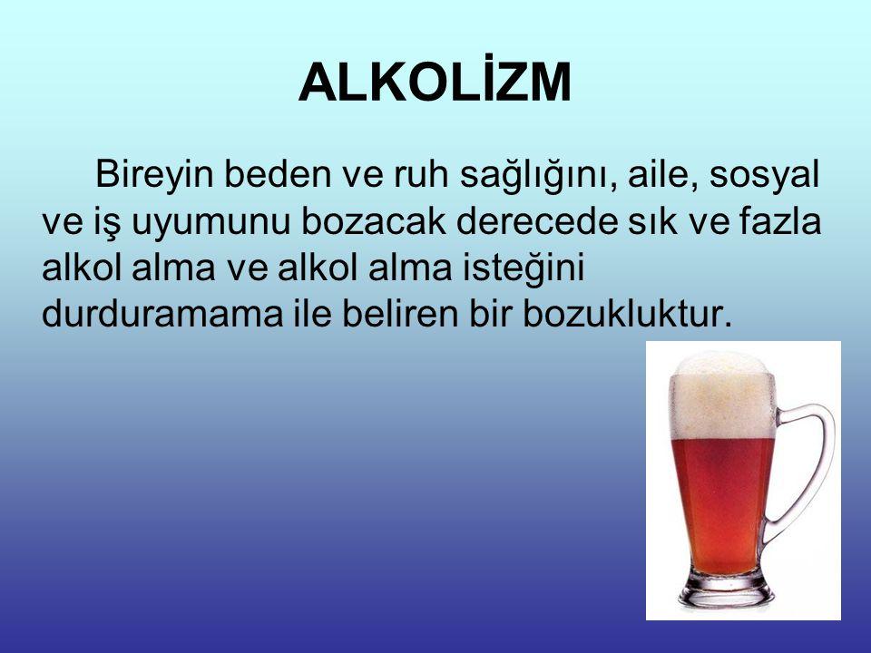 ALKOLİK ŞAHIS Dünya sağlık örgütü içki içenle alkoliği ayırmak için şu tanımı yapmaktadır.