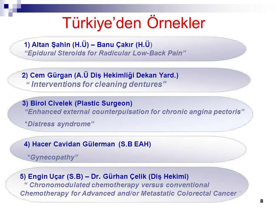 """8 Türkiye'den Örnekler 5) Engin Uçar (S.B) – Dr. Gürhan Çelik (Diş Hekimi) """" Chronomodulated chemotherapy versus conventional Chemotherapy for Advance"""